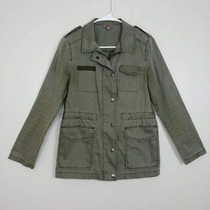 Rubbish Cotton Utility Jacket Olive Green XS #I2